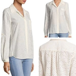 Diane von Furstenberg Lorelei Eyelet Button Down